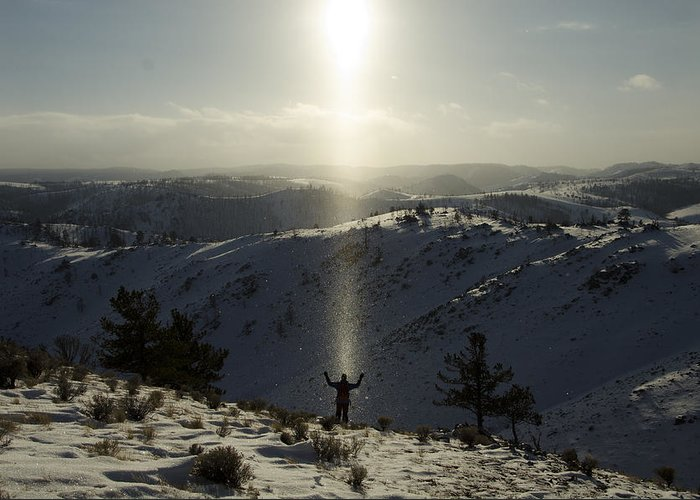 Landscape Greeting Card featuring the photograph Praise In The Snowies by Aaron Bedell
