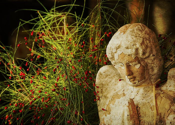 Angel Greeting Card featuring the photograph Praying For Peace by Terry Rowe