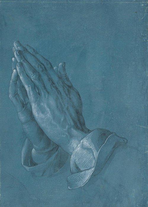 Albrecht Dürer Greeting Card featuring the painting Praying Hands by Albrecht Durer