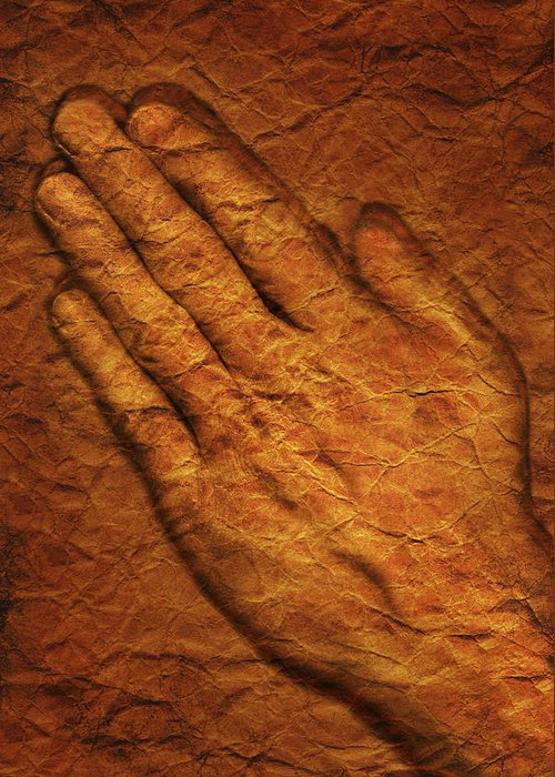 Art Greeting Card featuring the photograph Praying Hands by Don Hammond
