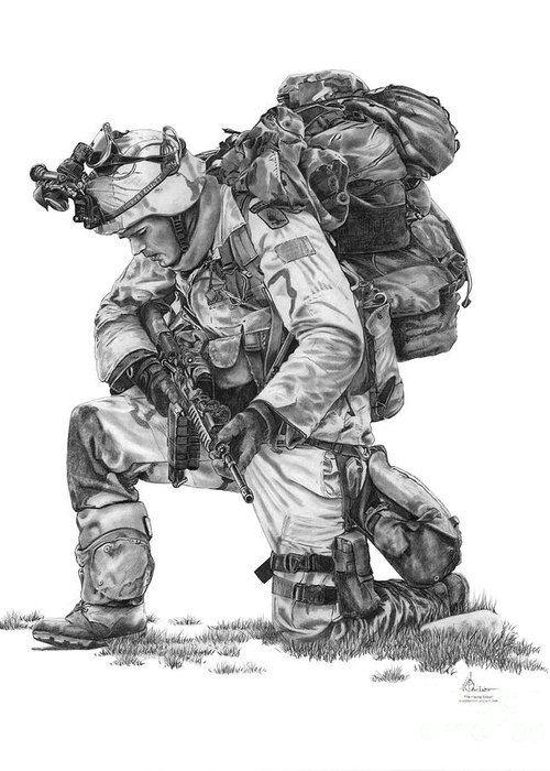 Fatigues Greeting Cards