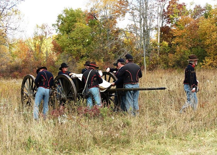 Civil War Greeting Card featuring the photograph Prepare The Cannon by Alicia McNally