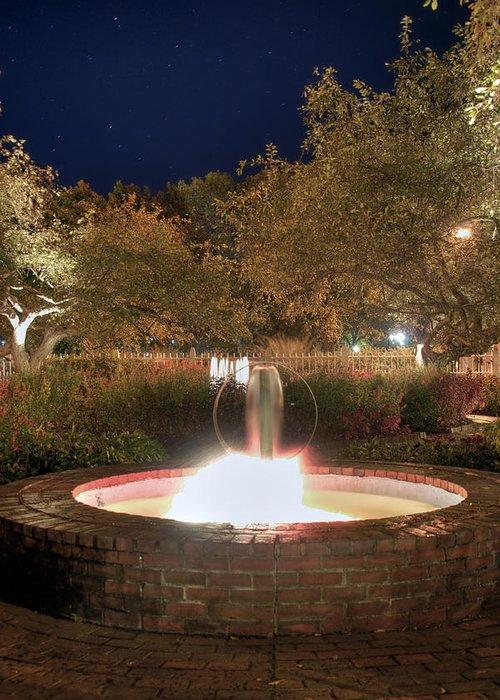 Prescott Park Greeting Card featuring the photograph Prescott Park Fountain by Joann Vitali