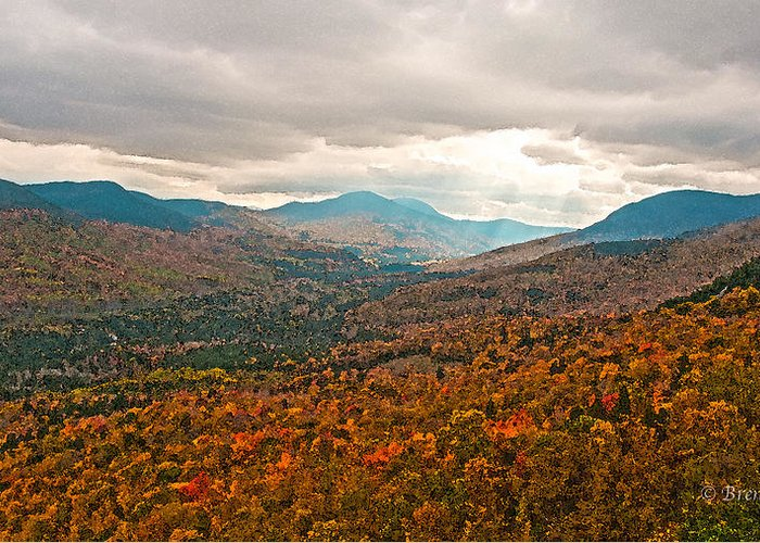 Brenda Greeting Card featuring the photograph Presidential Range In Autumn Watercolor by Brenda Jacobs