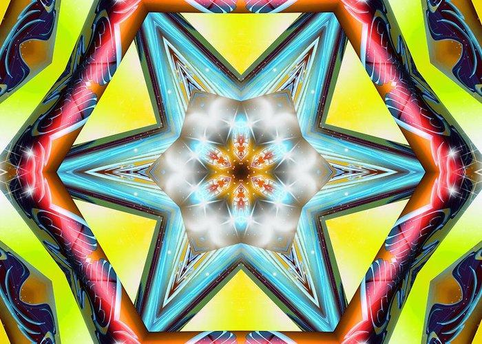 Sacredlife Mandalas Greeting Card featuring the digital art Pressurized by Derek Gedney
