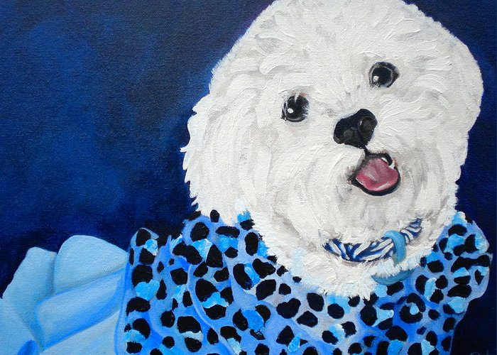 Toy Maltese Paintings Greeting Cards