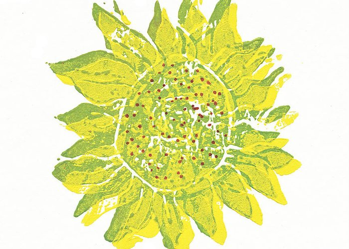 Nature Greeting Card featuring the relief Pretty Sunflower by Lynn-Marie Gildersleeve