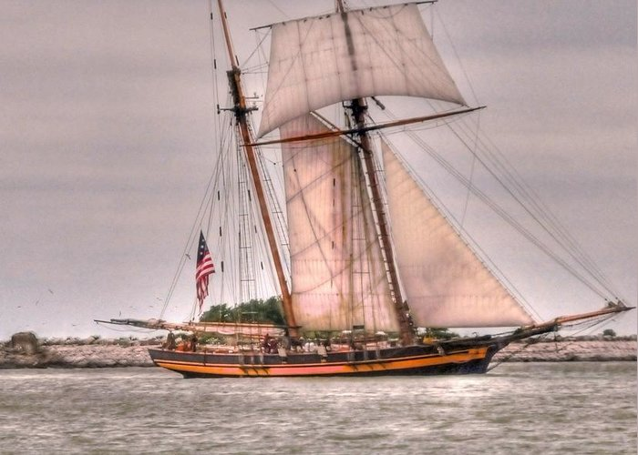 Pride Greeting Card featuring the photograph Pride Of Baltimore by Kathleen Struckle