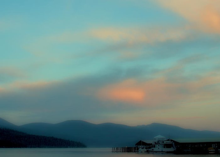 Priest Lake Greeting Card featuring the photograph Priest Lake At Dusk II by David Patterson