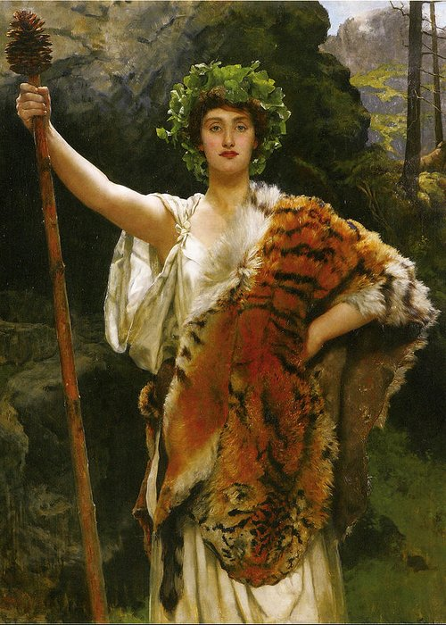 John Collier Greeting Card featuring the digital art Priestess Bacchus by John Collier