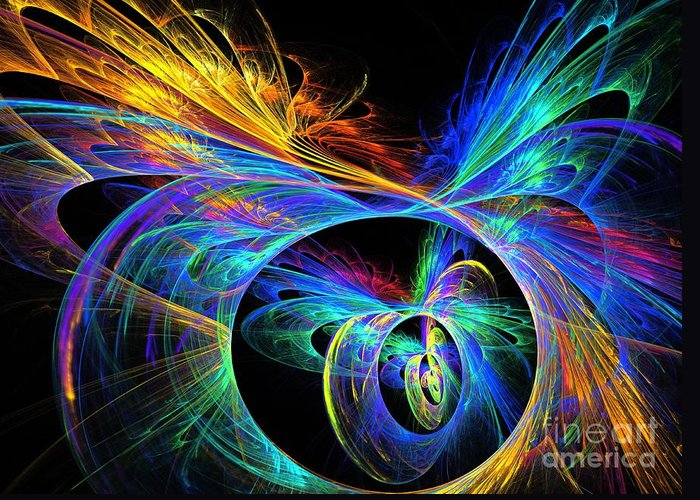 Apophysis Greeting Card featuring the digital art Primary by Kim Sy Ok