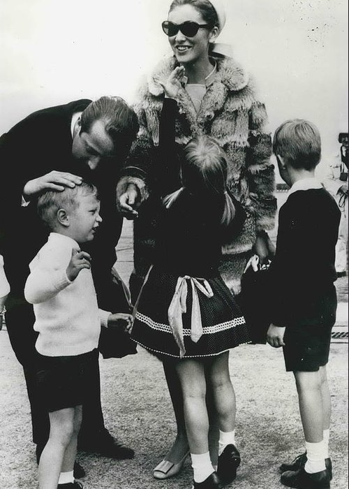 retro Images Archive Greeting Card featuring the photograph Prince Albert And Princess Paola Return From Canada by Retro Images Archive