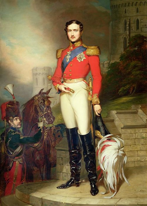 Fusilier Greeting Card featuring the painting Prince Albert by John Lucas