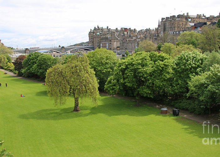 Princes Street Gardens Greeting Card featuring the photograph Princes Street Gardens 6480 by Jack Schultz