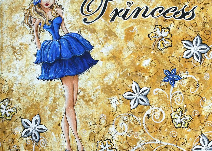 Greeting Card featuring the painting Princess By Madart by Megan Duncanson