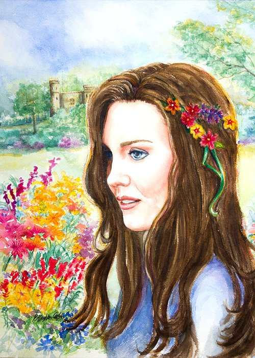 Kate Middleton Paintings Greeting Cards