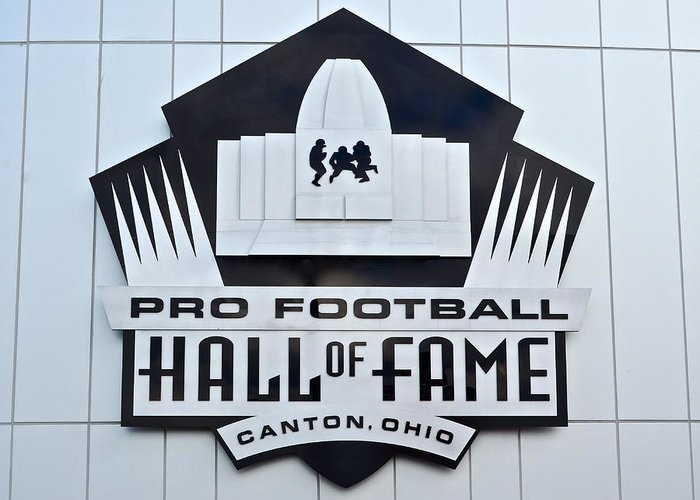 Pro Greeting Card featuring the photograph Pro Football Hall Of Fame by Frozen in Time Fine Art Photography