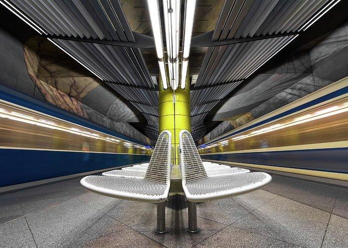 London Tube Greeting Cards