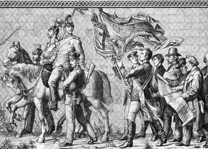 Procession Of Princes Greeting Card featuring the photograph Procession Of Princes - Dresden Germany by Christine Till