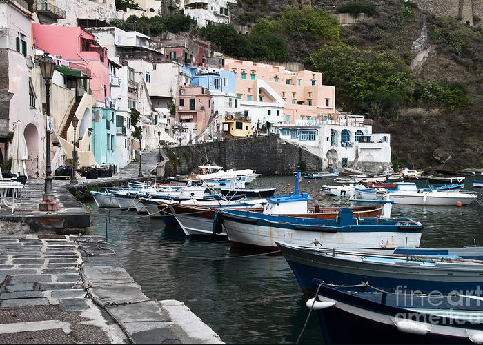 Procida Greeting Card featuring the photograph Procida by Marion Galt
