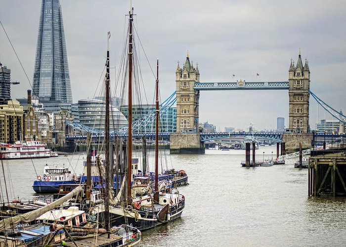 London Greeting Card featuring the photograph Progress by Heather Applegate