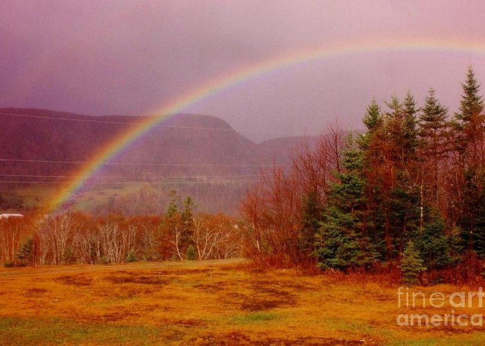 Rainbows Greeting Card featuring the photograph Promise And Hope Cape Breton by John Malone