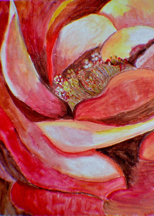 Hybrid Rose Greeting Card featuring the painting Promise Of Love by Sonali Gangane
