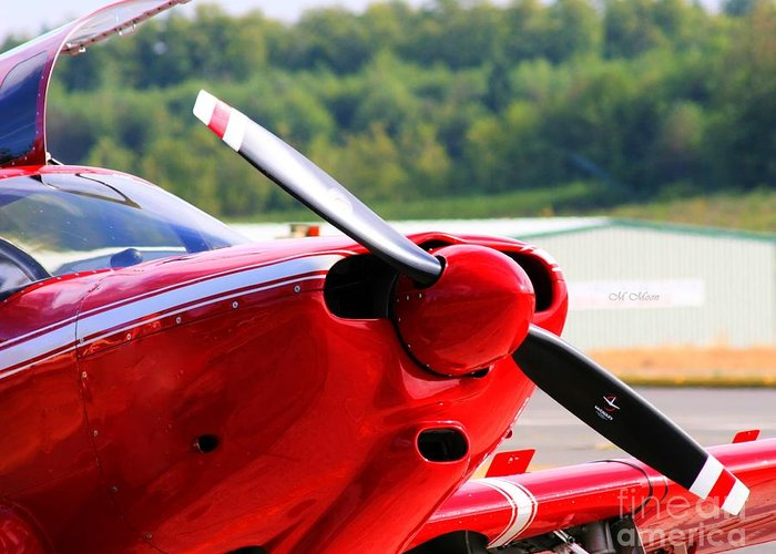 Airplane Greeting Card featuring the photograph Airplane Propeller by Tap On Photo