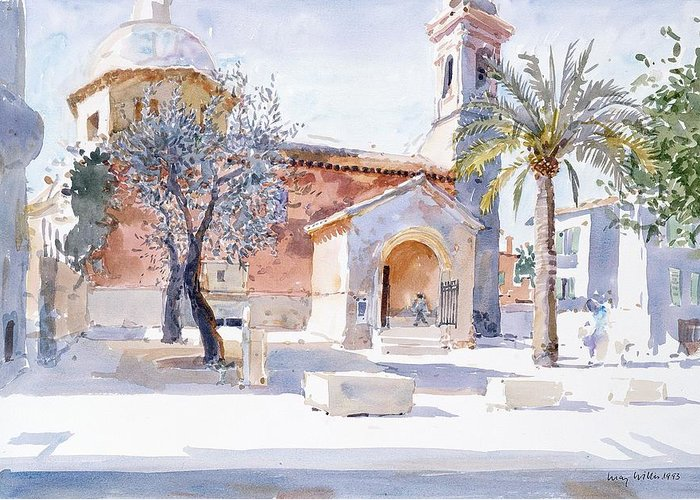 South Of France Drawings Greeting Cards