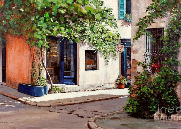 French Landscape Greeting Card featuring the painting Provence Antiques by Michael Swanson