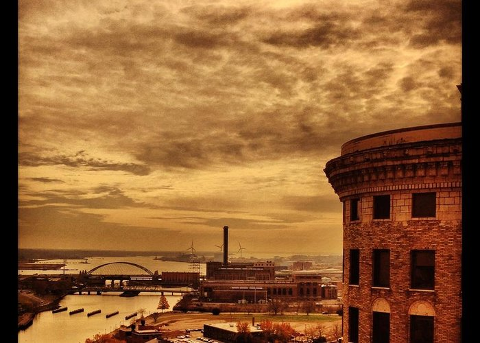 Providence Rhode Island Greeting Card featuring the photograph Providence Viewpoint by Mark Valentine