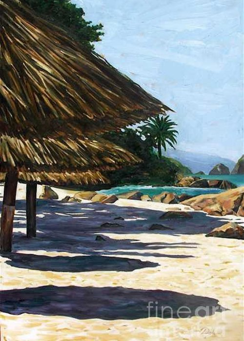 Beach Greeting Card featuring the painting Puerto Vallarta by Karen Doyle