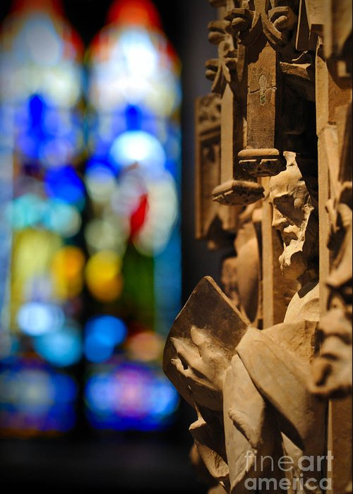 Church Greeting Card featuring the photograph Pulpit Trinity Cathedral Pittsburgh by Amy Cicconi