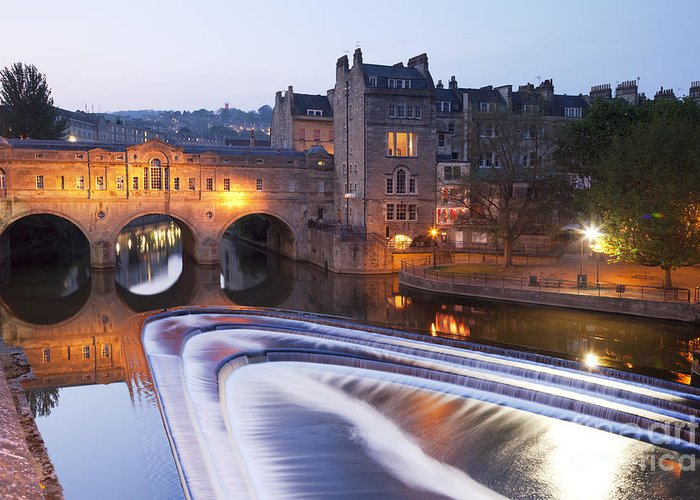 Architecture Greeting Card featuring the photograph Pulteney Bridge And Weir Bath by Colin and Linda McKie