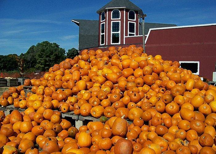 Pumpkin Greeting Card featuring the digital art Pumpkin Heaven by David Schneider