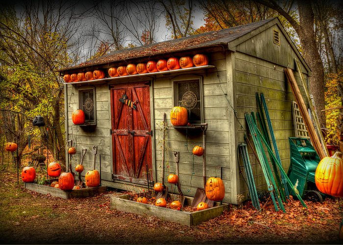 Fall Colors Greeting Card featuring the photograph Pumpkin House by Craig Incardone