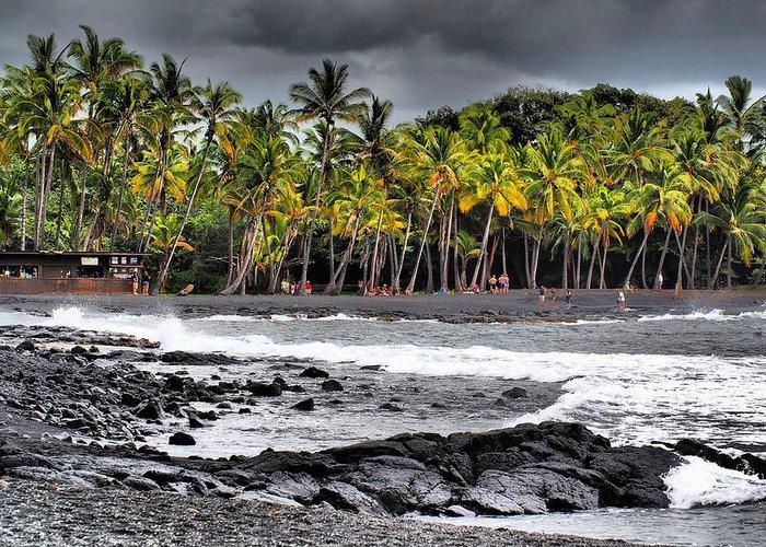 Hawaii Greeting Card featuring the photograph Punaluu by Patrick Roberto