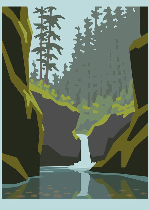 Oregon Waterfalls Greeting Cards
