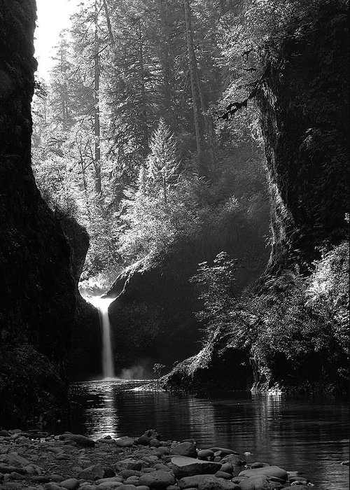 Oregon Greeting Card featuring the photograph Punchbowl Falls.2 by Steve Warnstaff