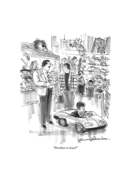 Toy Store Drawings Greeting Cards
