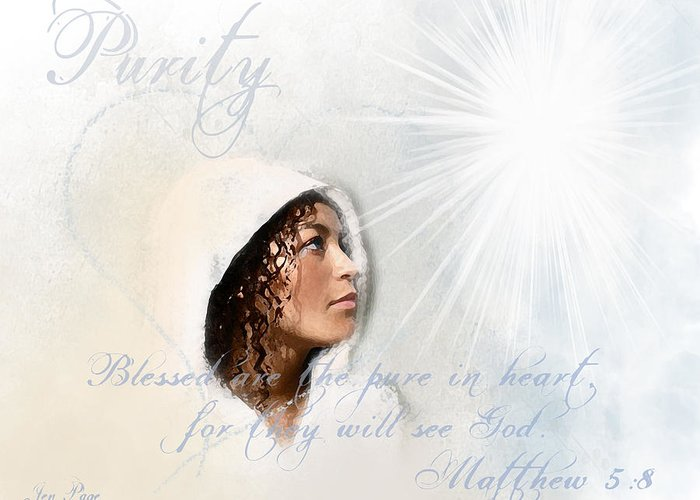 Purity Greeting Card featuring the digital art Purity by Jennifer Page