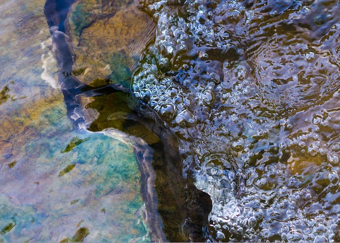Abstract Greeting Card featuring the photograph Purl Of A Brook 1 - Featured 3 by Alexander Senin