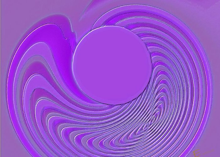 Purple Abstract Art Greeting Card featuring the photograph Purple Alchemy by Ernestine Manowarda