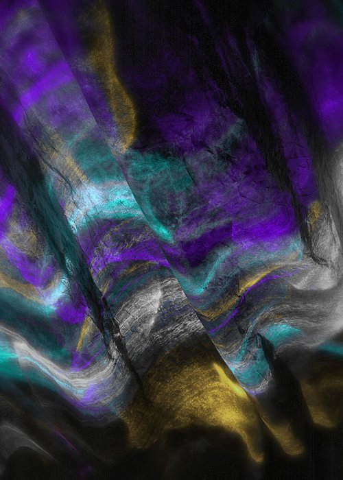 Impressionistic Greeting Card featuring the photograph Purple And Cyan by Dennis James