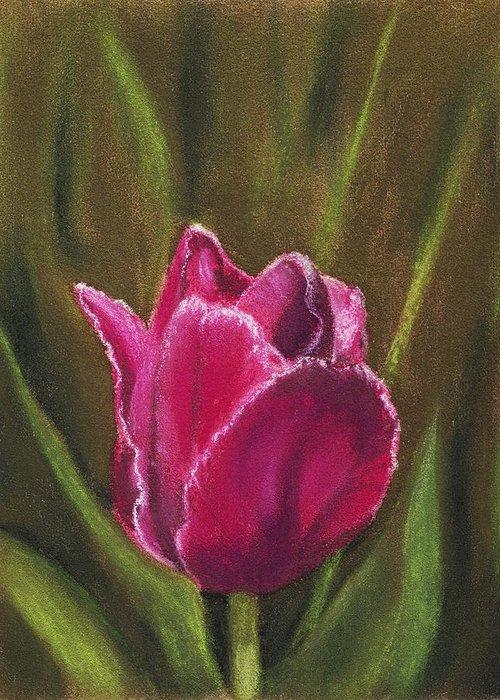Plant Greeting Card featuring the painting Purple Beauty by Anastasiya Malakhova