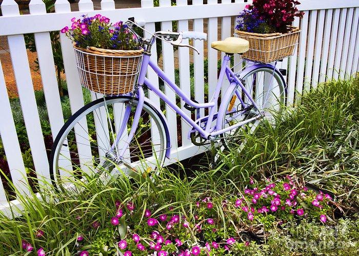 Flowers Bike Greeting Cards