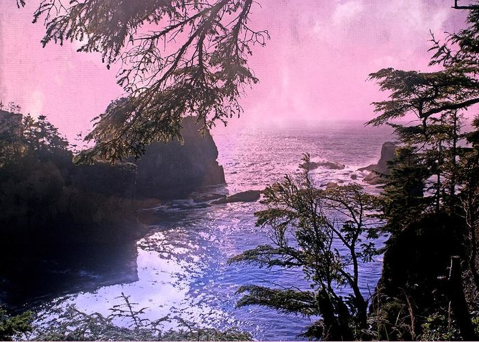 Landscape Greeting Card featuring the photograph Purple Haze by Marty Koch