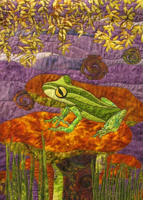 Frogs Tapestries - Textiles Greeting Cards