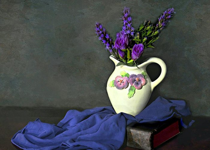 Still Life Greeting Card featuring the photograph Purple Pardon by Diana Angstadt