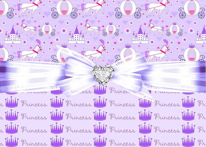 Princess Crown Greeting Card featuring the digital art Purple Passion Princess by Debra Miller